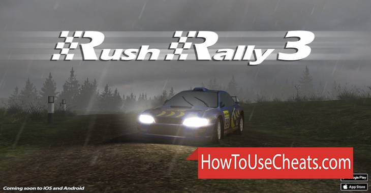 Rush Rally 2 how to use Cheat Codes and Hack Money