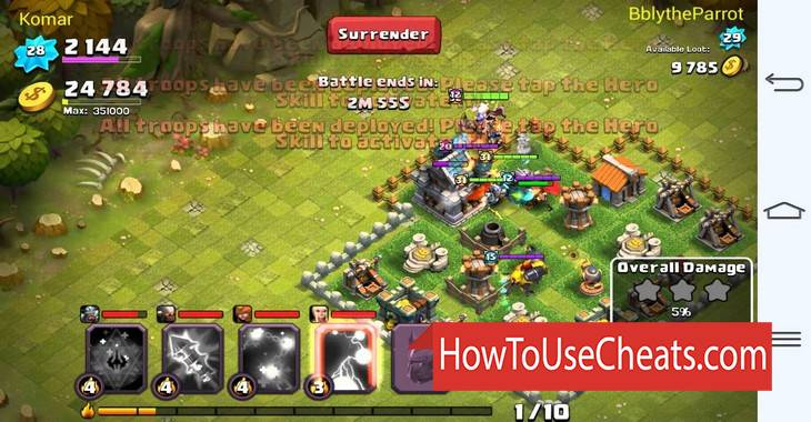 Clash of Lords 2 how to use Cheat Codes and Hack Coins and Gems