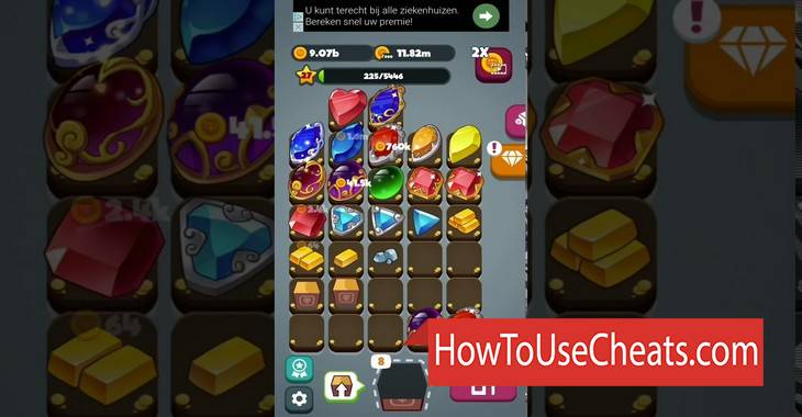 Merge Gems how to use Cheat Codes and Hack Gold