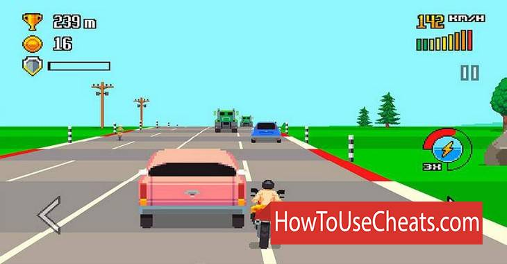 Retro Highway how to use Cheat Codes and Hack Coins
