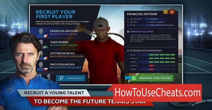 Tennis Manager 2018 how to use Cheat Codes and Hack Money and Gold