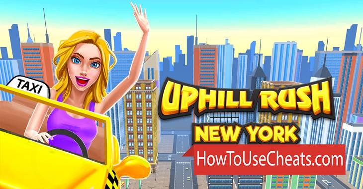 Uphill Rush New York how to use Cheat Codes and Hack Gold and Diamonds