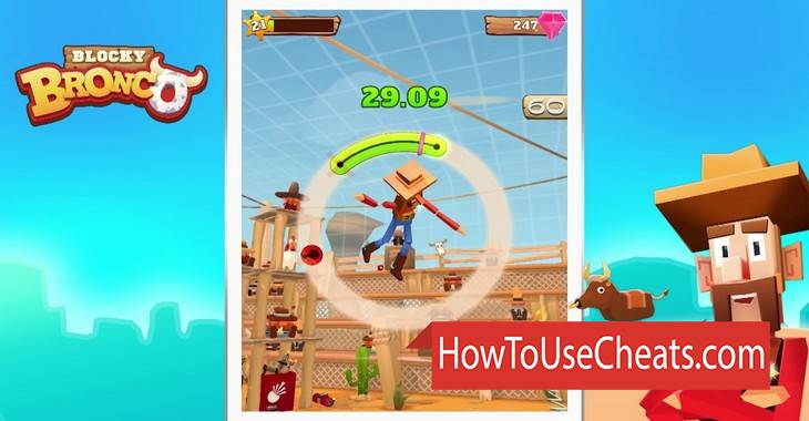 Blocky Bronco how to use Cheat Codes and Hack Stars and Gems
