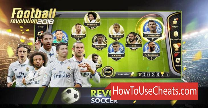 Football Revolution 2018 how to use Cheat Codes and Hack Coins and Diamonds