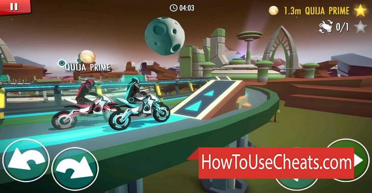Gravity Rider: Power Run how to use Cheat Codes and Hack Points and Stars