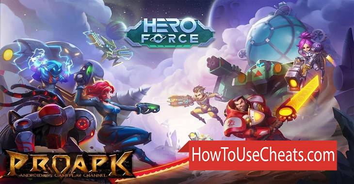 Hero Force: Galaxy War how to use Cheat Codes and Hack Coins and Gems