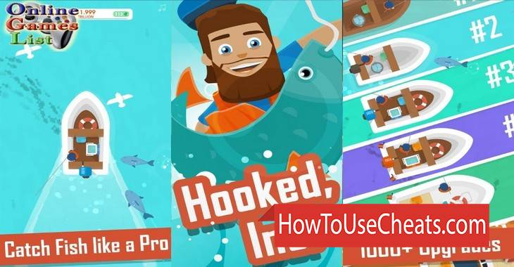 Hooked Inc: Fisher Tycoon how to use Cheat Codes and Hack Coins and Gems