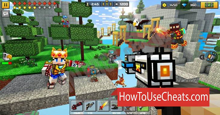 <b>Pixel Gun 3D</b> Hack Android, iOS (Gold, Diamonds and Coins)