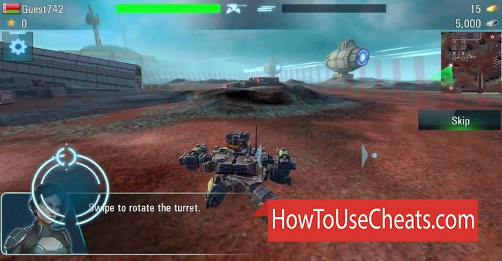 Tanks VS Robots how to use Cheat Codes and Hack Gold, Fuel and Silver
