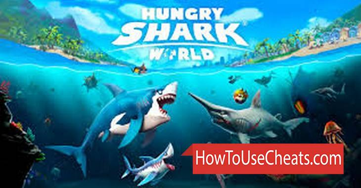 Hungry Shark World how to use Cheat Codes and Hack Gold and Diamonds