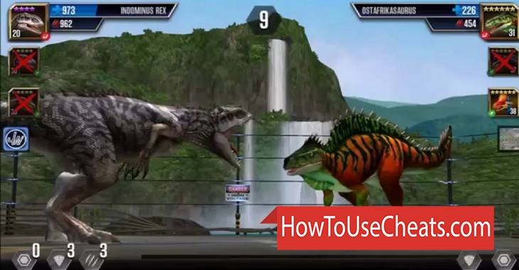 Jurassic World The Game how to use Cheat Codes and Hack Meals and Coins