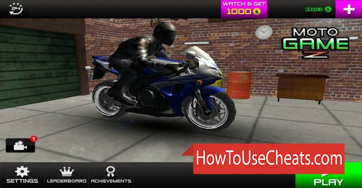 MOTO GAME Z how to use Cheat Codes and Hack Money, Bikes and Speed