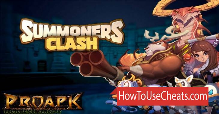 Summoners Clash how to use Cheat Codes and Hack Coins and Diamonds