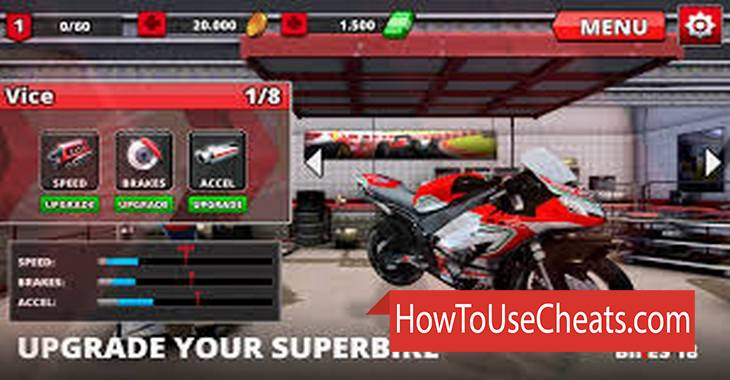 Super Bikes 2018 how to use Cheat Codes and Hack Coins and Money