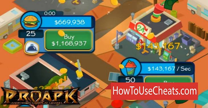 Taps to Riches how to use Cheat Codes and Hack Money and Gems