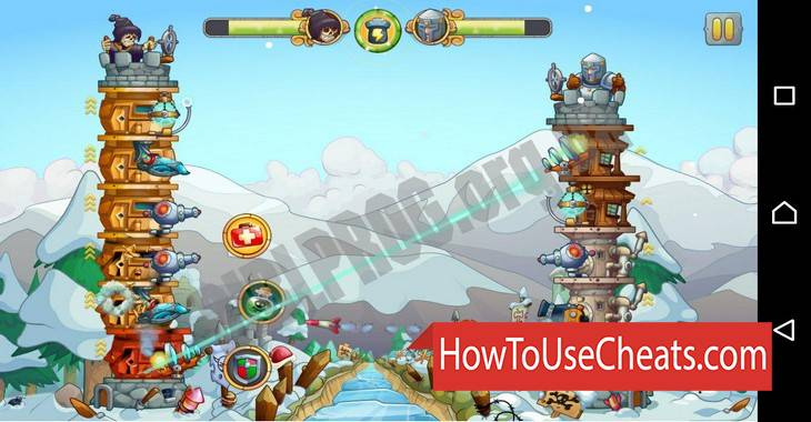 Tower Crush how to use Cheat Codes and Hack Coins and Weapon