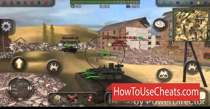 Wild Tanks how to use Cheat Codes and Hack Gold, Experience and Coins