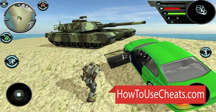 Army Car Theft how to use Cheat Codes and Hack Coins, Immorality and Experience