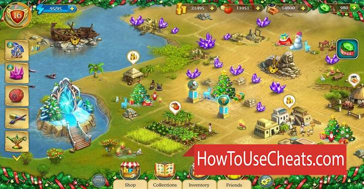 Cradle of Empires how to use Cheat Codes and Hack Diamonds