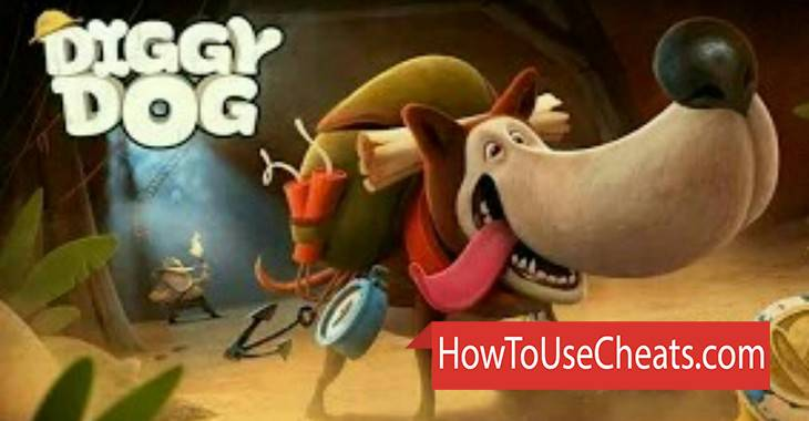 Diggy Dog how to use Cheat Codes and Hack Coins and Diamonds