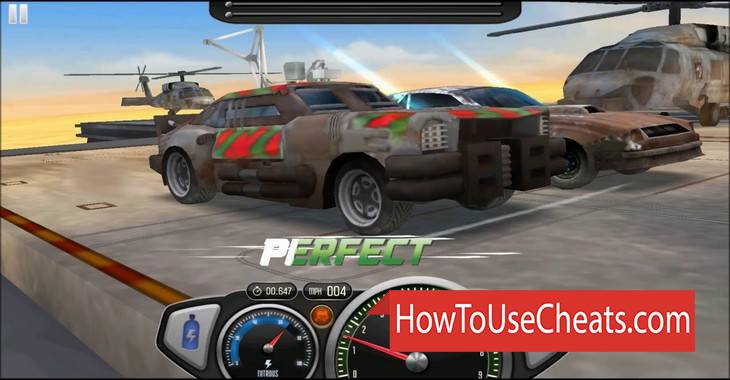 Drag Rivals 3D how to use Cheat Codes and Hack Gold and Fuel