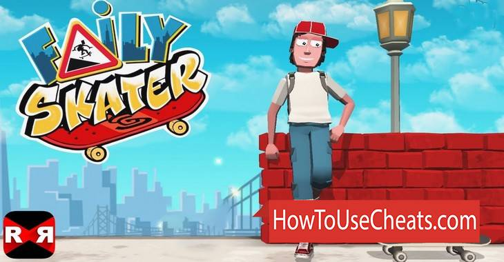 Faily Skater how to use Cheat Codes and Hack Coins and Keys