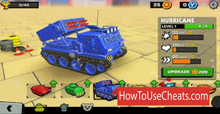 Tank Headz how to use Cheat Codes and Hack Tokens