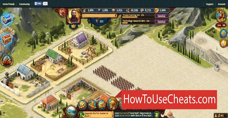 Triumph: Dawn of Power how to use Cheat Codes and Hack Gold, Food, Wood and Stone