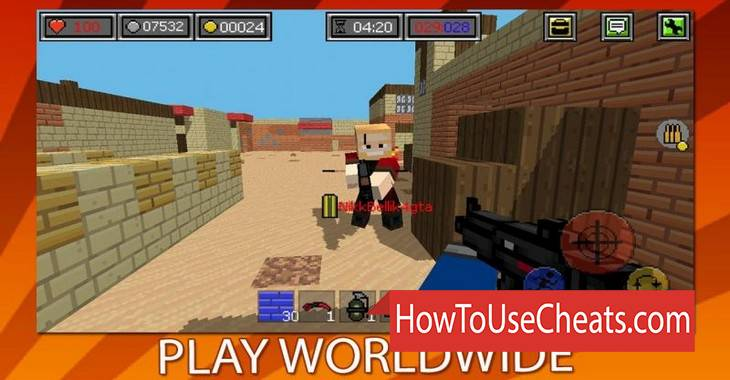 Combat Blocks Survival Online how to use Cheat Codes and Hack Immorality, Coins and Money